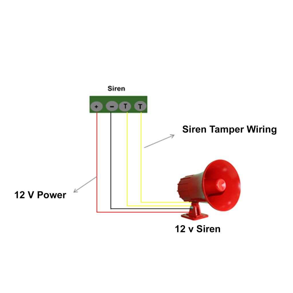 Intrusion Alarm System Siren Wiring Security Alarm