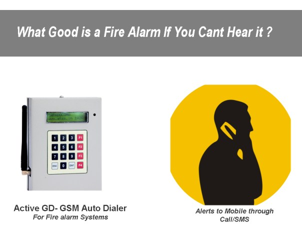 Gsm Auto Dialer For Fire Alarm System Security Alarm