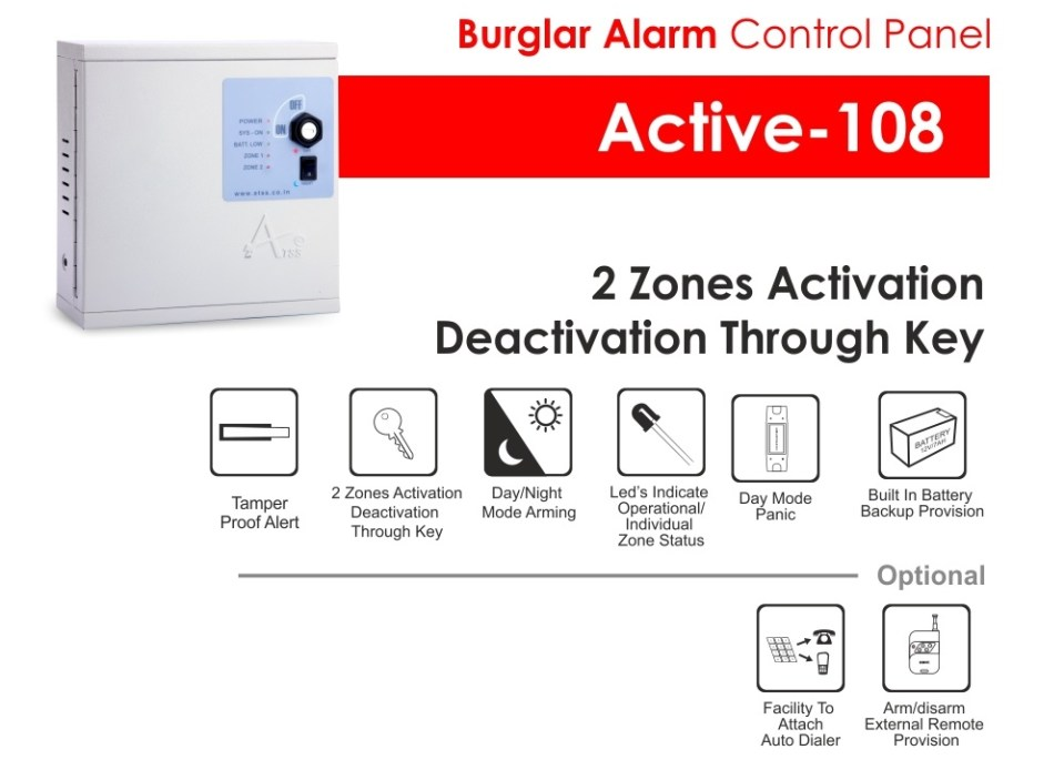 Burglar Alarm Active-108