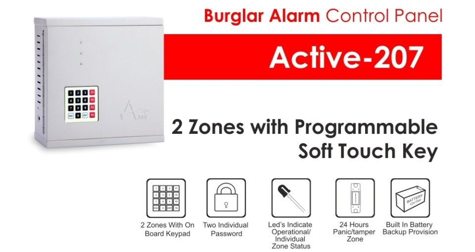 Burglar Alarm Systems Manufacturer Active-207