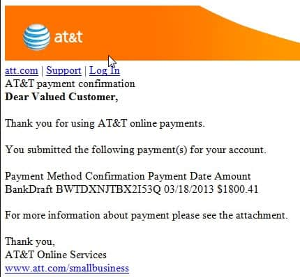 Identify Fake AT&T Emails Email Support
