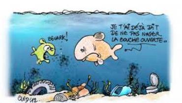 dessin eaux polluées