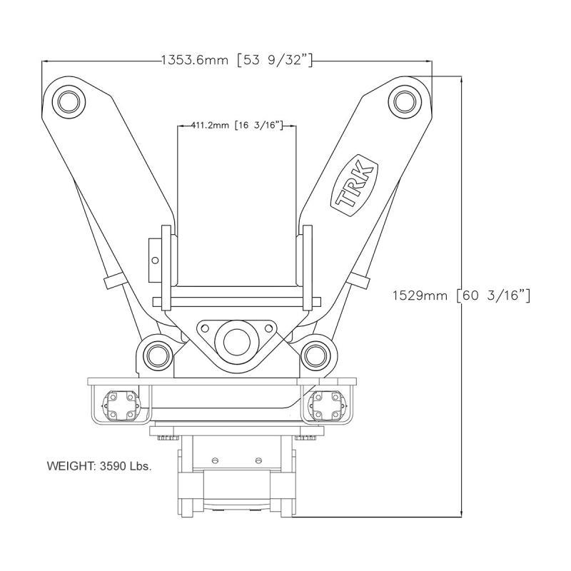 TRK Tilt-Rotator Coupler Coupler, Quick Caterpillar, Cat