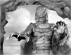 The Gill-Man attacks