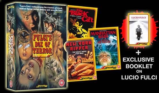 Fulci's Box of Terror - 3 tops films from the master of Italian horror