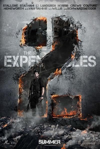 New Official Expendables 2 Poster