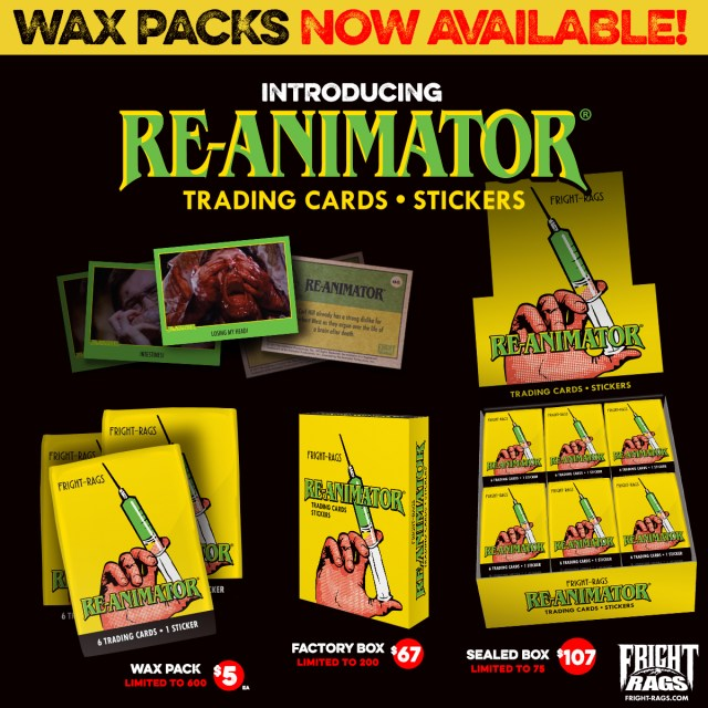 Fright-Rags' House of Fright Re-Animator Wax Packs