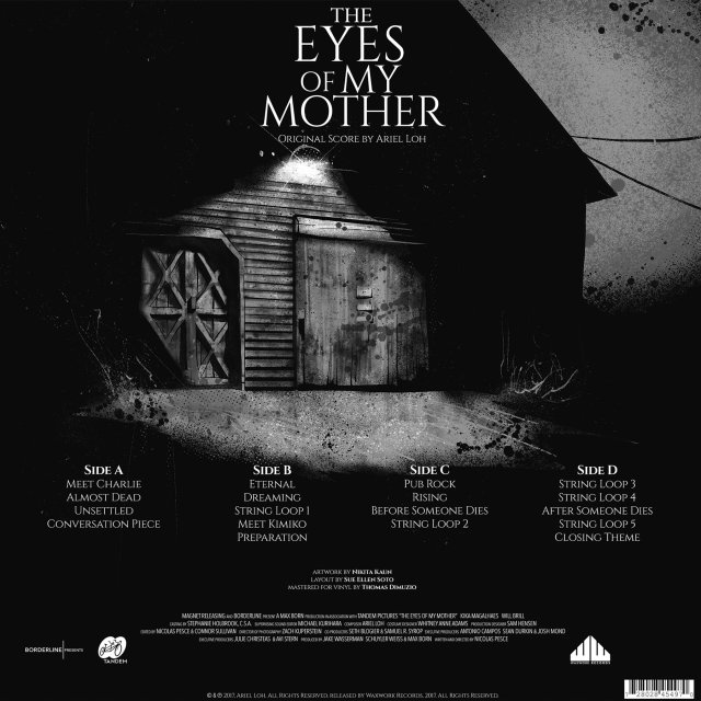 Waxwork Records Presents THE EYES OF MY MOTHER Double Vinyl Soundtrack