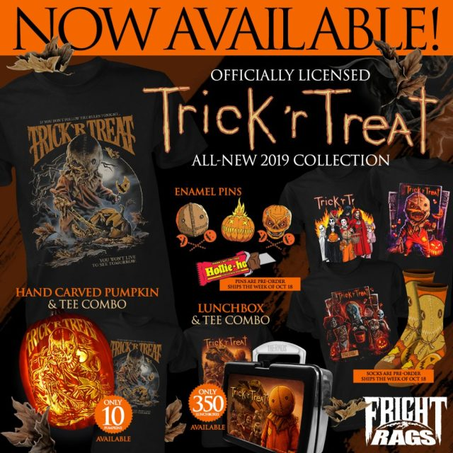 Fright-Rags Kicks Off the Spooky Season with TRICK 'R TREAT, HALLOWEEN, THE CROW & BELA LUGOSI Merchandise