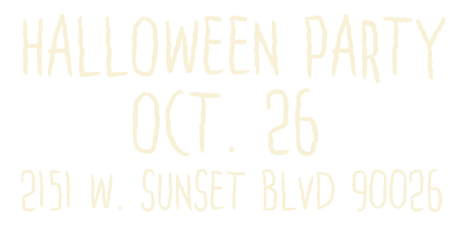 Local Boogeyman & Cosmic Vinyl's Halloween Party at Sunset Boulevard, LA (26th October)