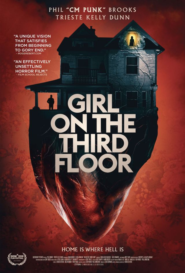 101 Films Present Bloody Haunted House Horror GIRL ON THE THIRD FLOOR Starring CM Punk Available Now on Digital Download