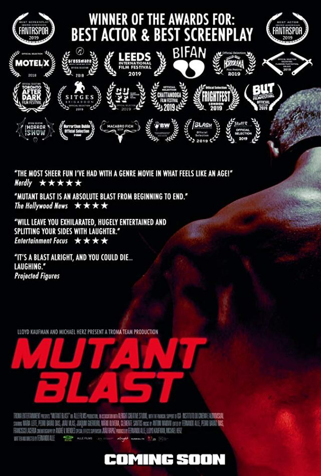 Troma's Head-Crushing Hit MUTANT BLAST Blasts Off With World Premiere at Nos Colombo Cinema in Lisbon 17th October