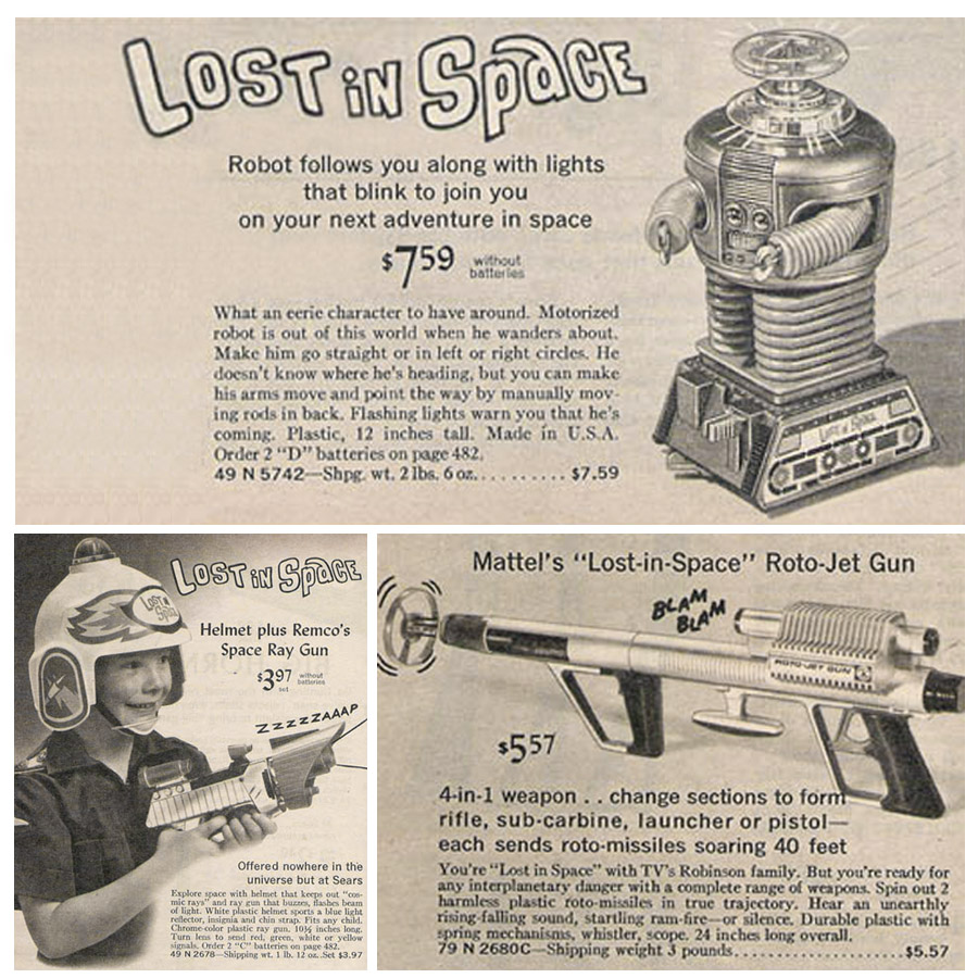 Lost in Space toys by Remco and Mattel