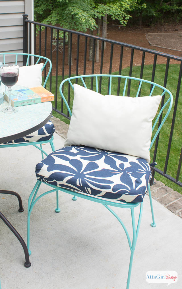 sewing patterns for chair cushions top office chairs under 200 porch makeover progress diy outdoor atta girl says easy sew project