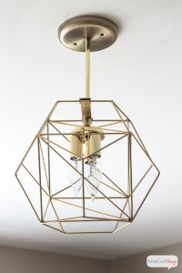 DIY Geometric Globe Pendant Light