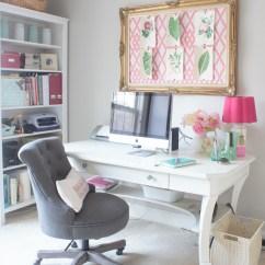 Girls Pink Desk Chair Splat Back Windsor Feminine Home Office & Craft Room Tour - Atta Girl Says