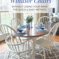 Diy Painted Windsor Chairs Chair Cover Hire Sunderland Dining Don T Have To Take Forever Paint Farmhouse Style Stained Kitchen Table With White Legs And