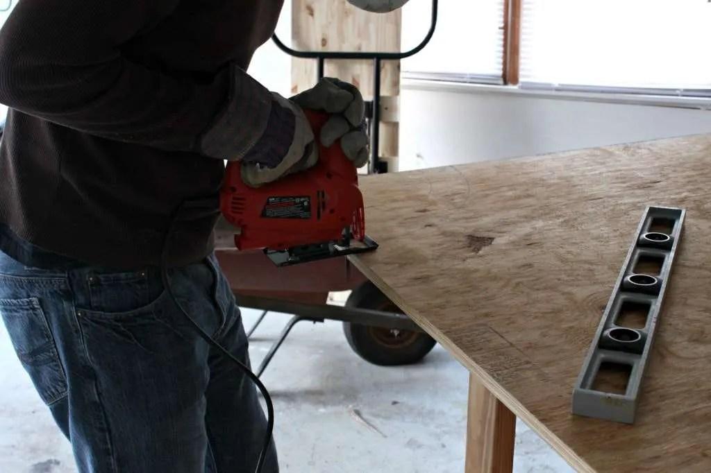 sawing headboard