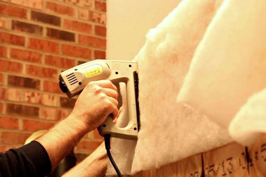 upholstering a headboard