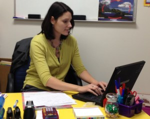 Beth Schetter checks for online resources, including ways to re-energize her teaching space and herself.