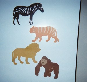 Animal Cut-outs greet young children at their classroom door.