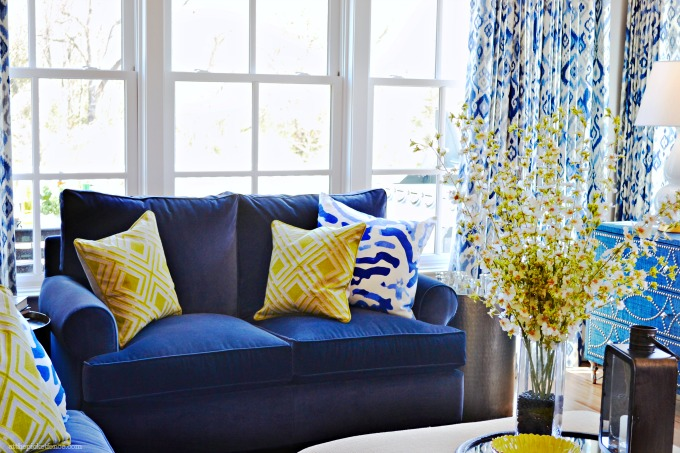 Blue Home Decor Ideas I've Got The Blues! At The Picket Fence