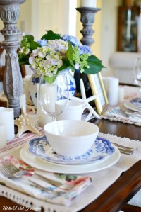 Summer Tablescape and Mikasa Giveaway - At The Picket Fence