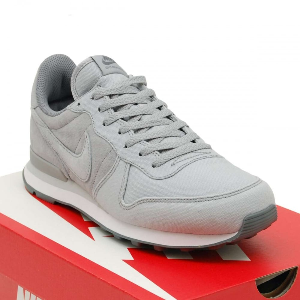 Nike Internationalist Premium Wolf Grey Cool Grey - Mens Shoes from Attic Clothing UK