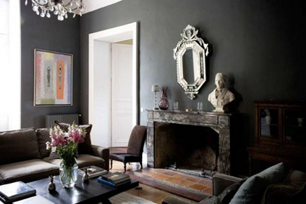 living rooms with dark gray walls grey and yellow colour scheme room
