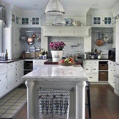 Gray Subway Tile Kitchen Remodel Planner Silver Wall White With And Carrara Marble Counter