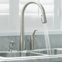 Kitchen Water Faucet Cabinets Sizes Why Faucets Splash Kohler Simplice With Sprayer On Via Atticmag