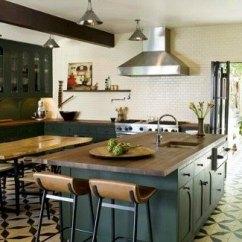 Cement Tile Kitchen Credenza