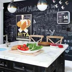 Pictures For Kitchen Walls Fatigue Mats Chalkboard Paint Black And White With Full Blackboard Painted Wall Pinterest