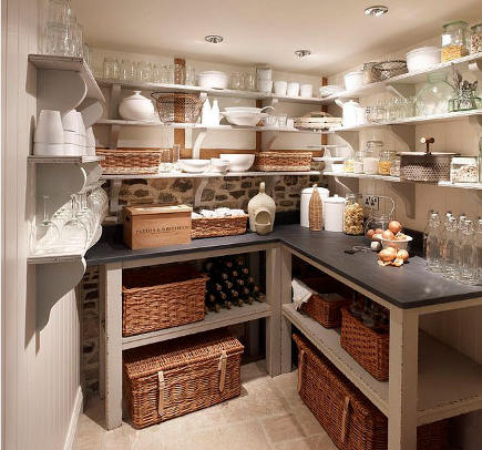 kitchen pantry ideas cabinet hardware trends with counter and open shelving chalone via atticmag