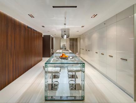 Minimalist Galley Kitchen