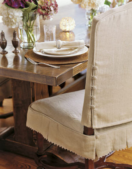 dining chair slipcover amazon high slipcovers linen with button detail duispy via atticmag