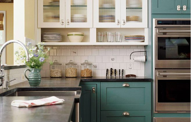 green kitchen cabinets and bathroom archives atticmag blue kitchens classic with bh g via