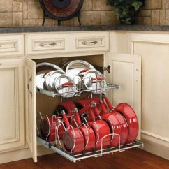 Pull Out Kitchen Cabinet Area Rug Ideas Base Double Tier Pout And Pan