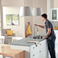 No Touch Kitchen Faucet Moen Cartridge Replacement Instructions Sensor Delaney Motionsense Via Atticmag