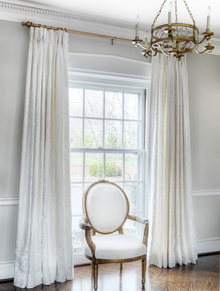 Where To Hang Curtains With Crown Molding
