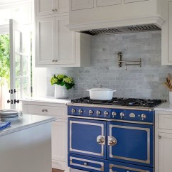 La Cornue Kitchen Menards Sinks Blue Ranges Cornufe Navy Range In A White Marianne Simon Via