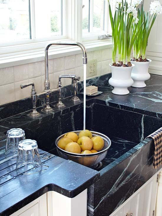 soapstone kitchen shutters custom sink kitchens each is one of a kind piece that can be the ideal large clean up station
