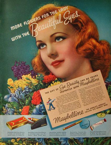 Skin Care Retro Advertising Hippie Bronzer Vintage