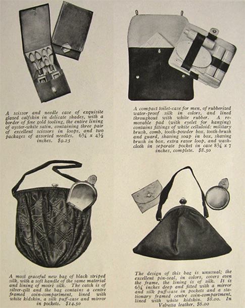 1915 Mark Cross Handbags & Gifts Ad