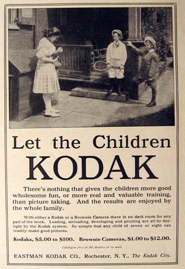 1910 Kodak Camera Ad Let The Children Kodak Vintage