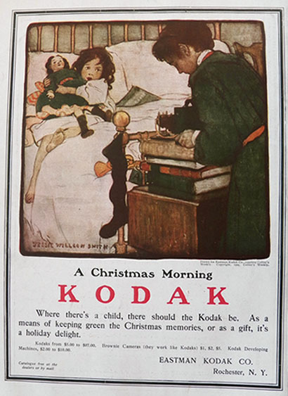 1904 Kodak Ad Christmas Morning Jessie Willcox Smith