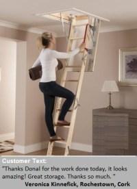 Attic Stairways | Attic ladders Cork. Attic floor 087 7929389