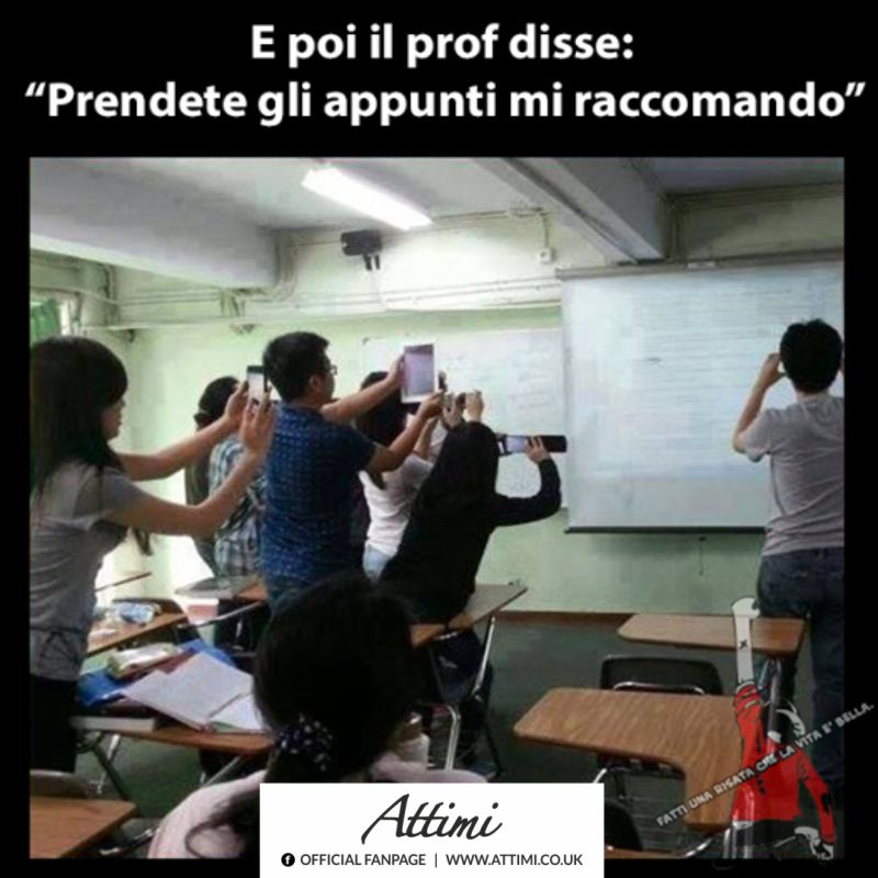 E poi il prof. disse ….