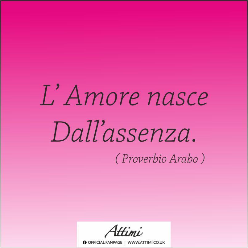 L'amore nasce dall'assenza ( Proverbio Arabo )