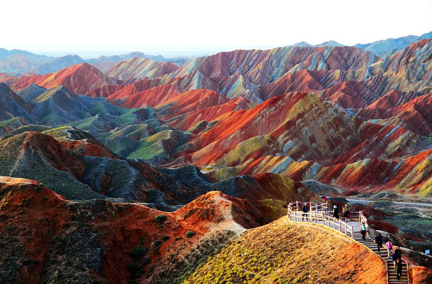 Formazione Zhangye Danxia a Gansu, Cina